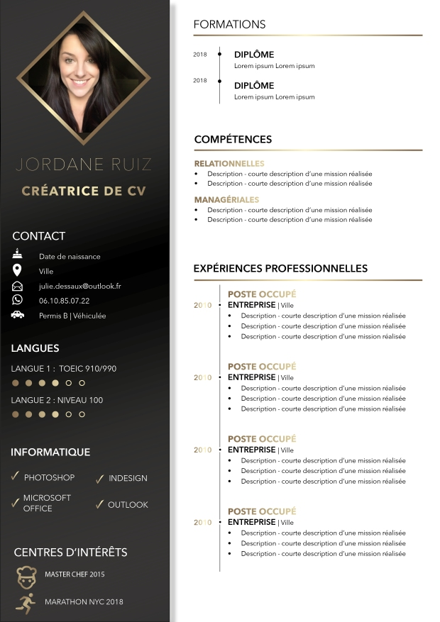 imagine mon cv  u2013 cr u00e9ation de cv design  tendances